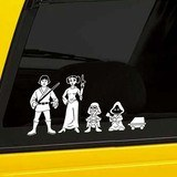 Car & Motorbike Stickers: Father Luke Skywalker 5