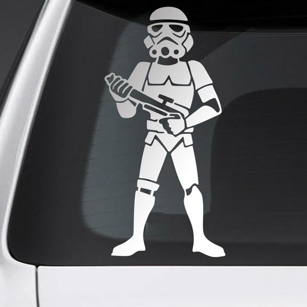 Car and Motorbike Stickers: Father Stormtrooper