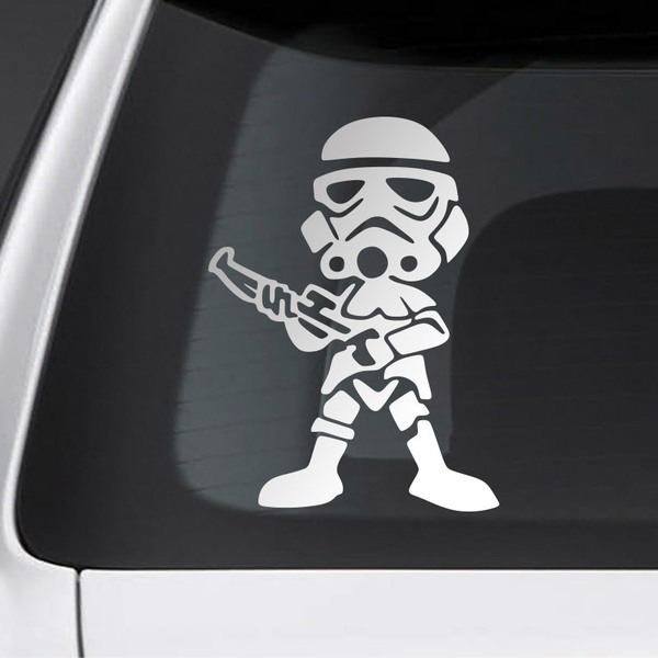 Car and Motorbike Stickers: Child son Stormtrooper