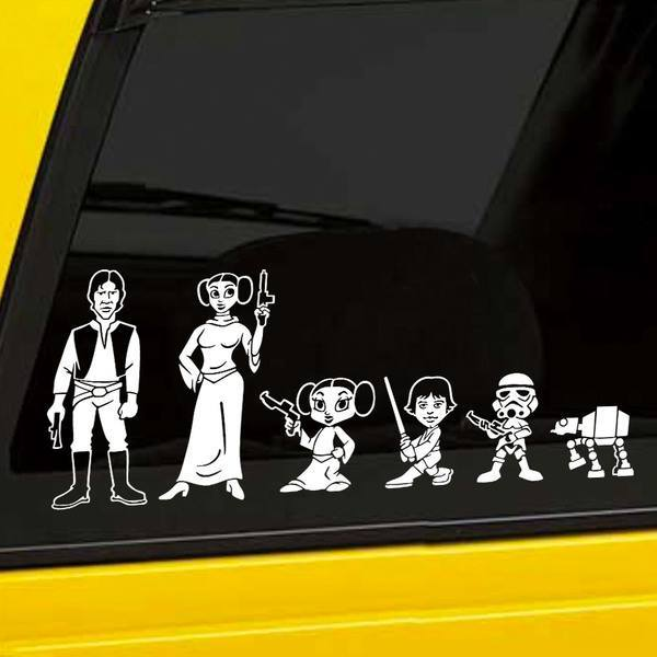 Car & Motorbike Stickers: Child son Stormtrooper