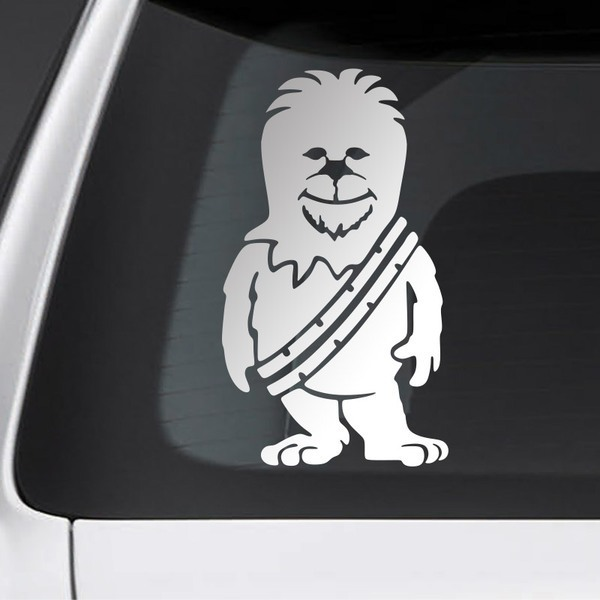Car and Motorbike Stickers: Child son Chewbacca