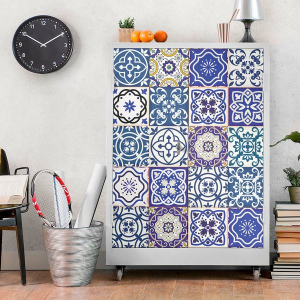 Wall Stickers: Tiles in blue tones