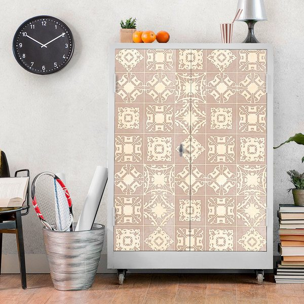 Wall Stickers: Tiles in cream tones