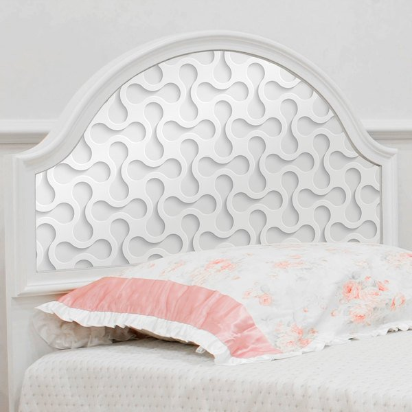 Wall Stickers: Abstract shapes in white