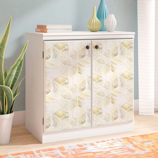 Wall Stickers: Cubes in yellow tones