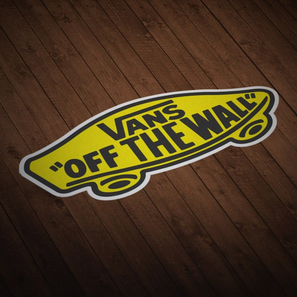 Car & Motorbike Stickers: Vans off the wall yellow