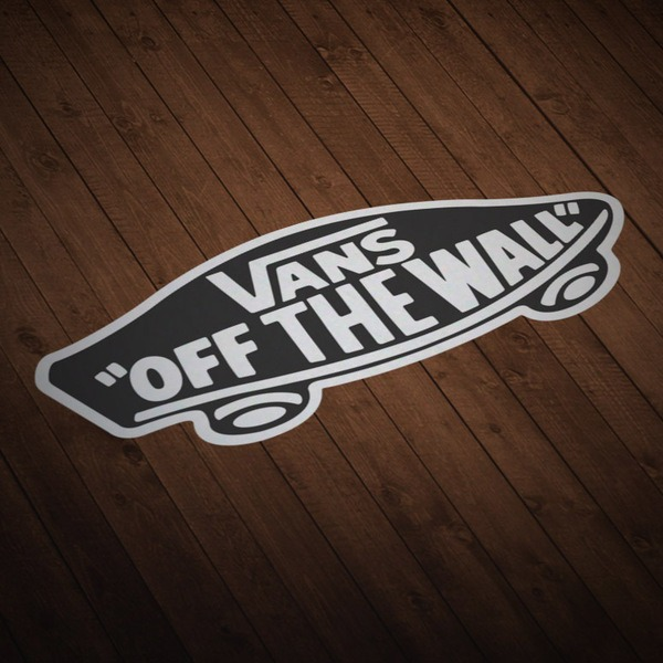 Car & Motorbike Stickers: Vans off the wall black