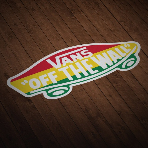 Car & Motorbike Stickers: Vans off the wall Rastafari