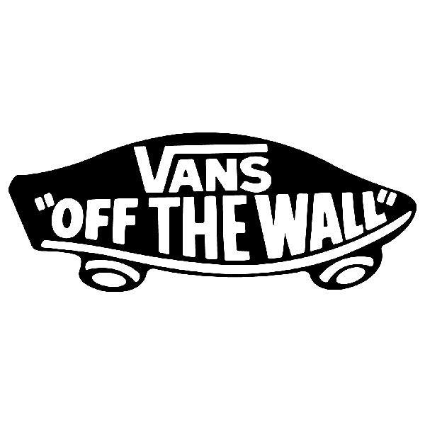 Car & Motorbike Stickers: Vans off the wall skate