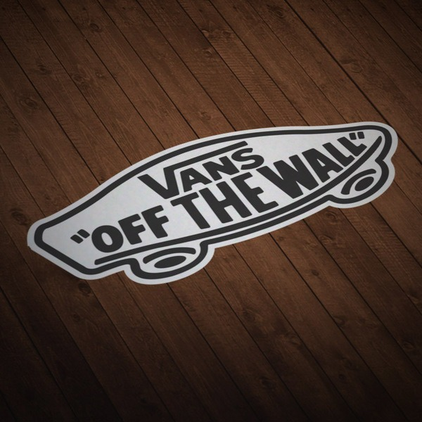 Car & Motorbike Stickers: Vans off the wall white