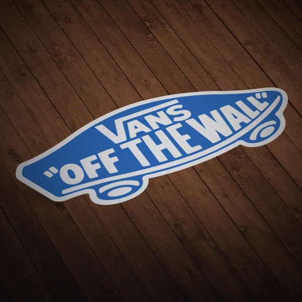 Car & Motorbike Stickers: Vans off the wall blue