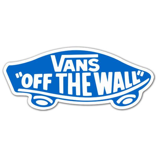 Sticker Vans off the wall blue
