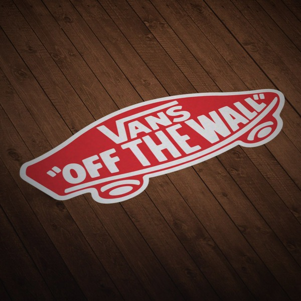 Car & Motorbike Stickers: Vans off the wall red