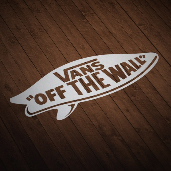 Car & Motorbike Stickers: Vans off the wall surf