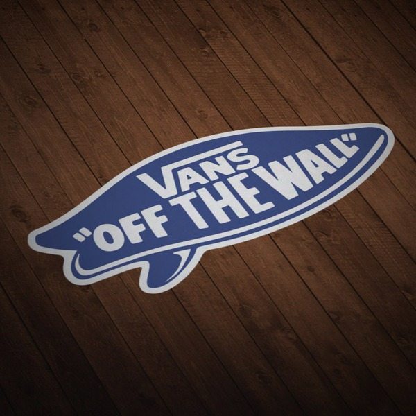 Car & Motorbike Stickers: Vans off the wall blue suf