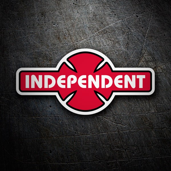 Car & Motorbike Stickers: Independent Truk Company retro red