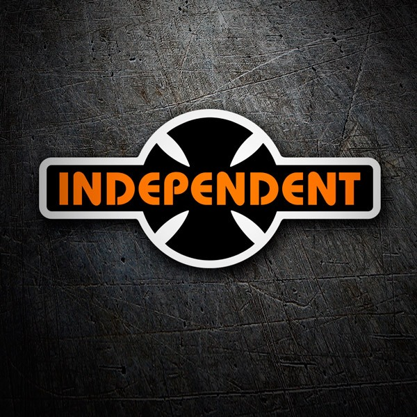 Car & Motorbike Stickers: Independent Truck Company retrò  arancione e nero