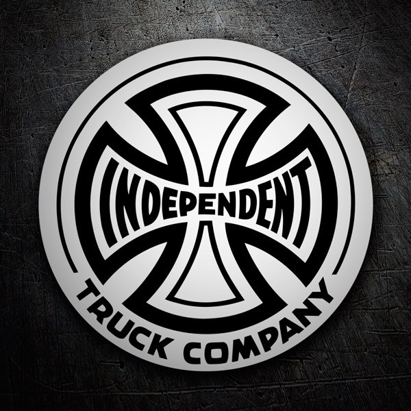 Car & Motorbike Stickers: Independent Truck Company white