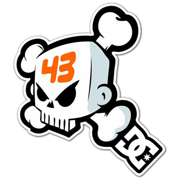 Car & Motorbike Stickers: Ken Block 43 Skull