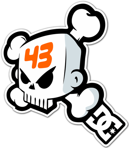 Sticker Surf Skate Ken Block 43 Dc Shoes Skull 1 Muraldecal Com