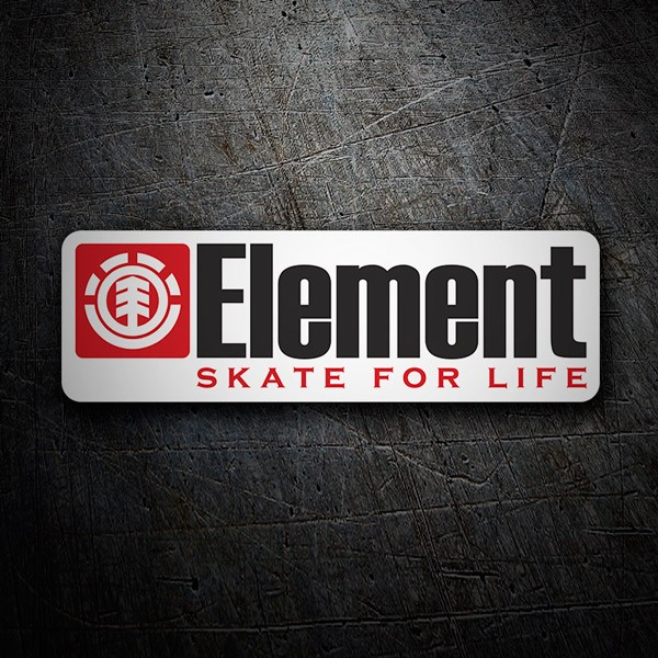 Car & Motorbike Stickers: Element skate for life