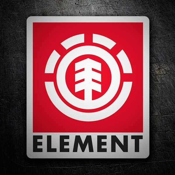 Car & Motorbike Stickers: Element red