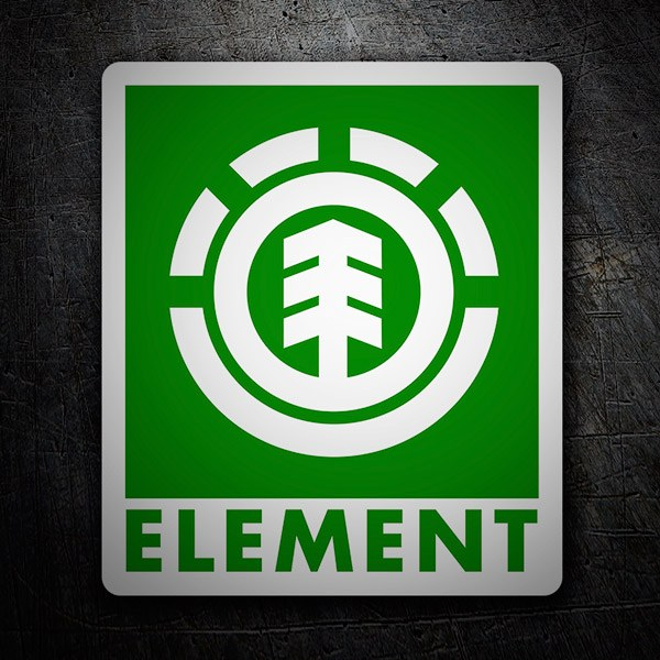 Car & Motorbike Stickers: Element green
