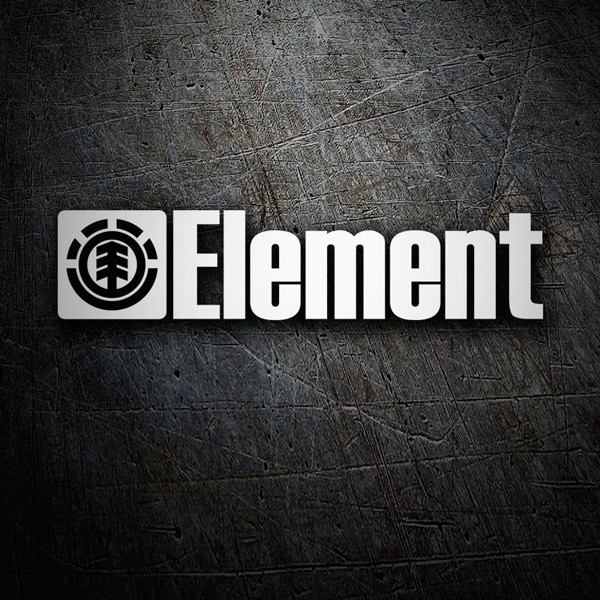 Car & Motorbike Stickers: Element and its logo in horizontal