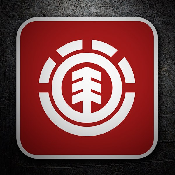 Car & Motorbike Stickers: Element red logo