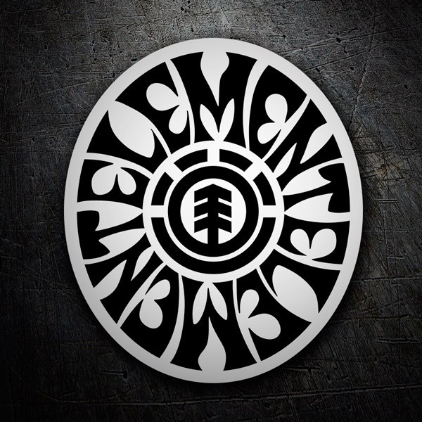 Car & Motorbike Stickers: Element oval