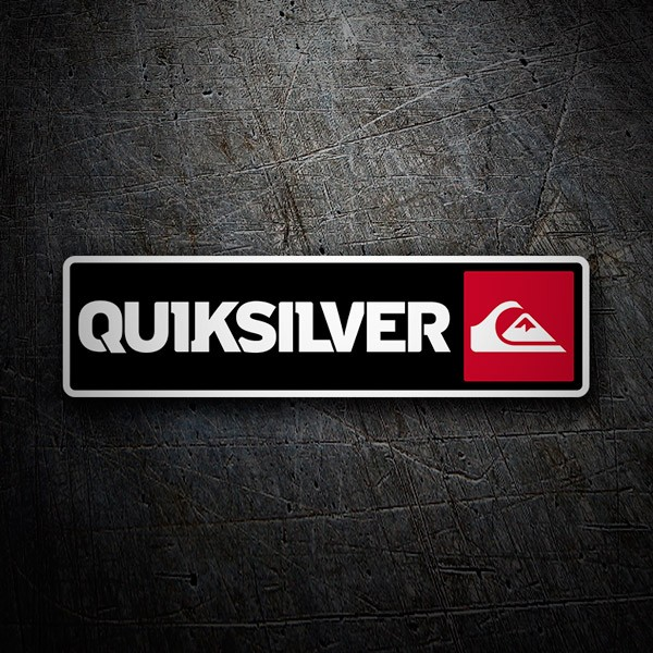Car & Motorbike Stickers: Quiksilver Red and Black
