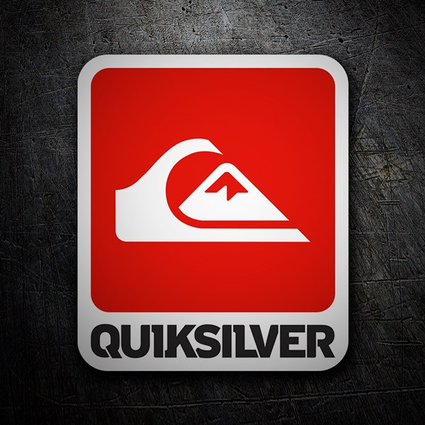 Car & Motorbike Stickers: Quiksilver Wave and Mountain