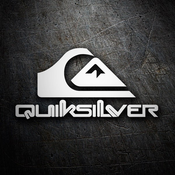 Car & Motorbike Stickers: Quiksilver logo with letters