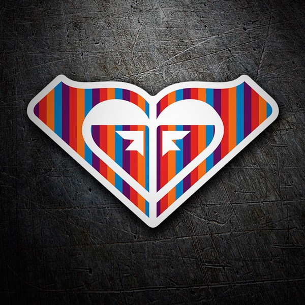 Car & Motorbike Stickers: Roxy multicoloured