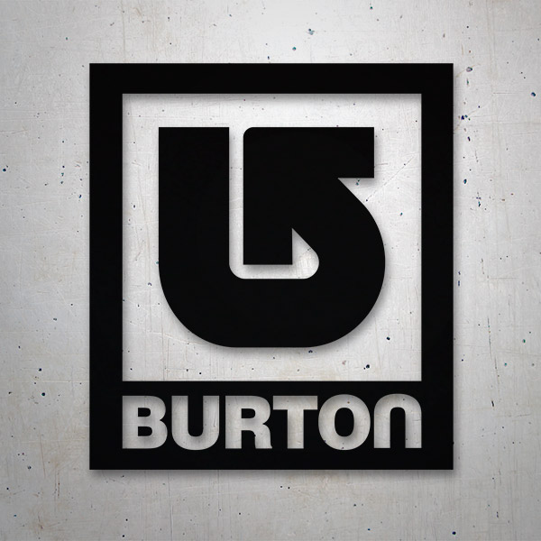 Car & Motorbike Stickers: Burton retro