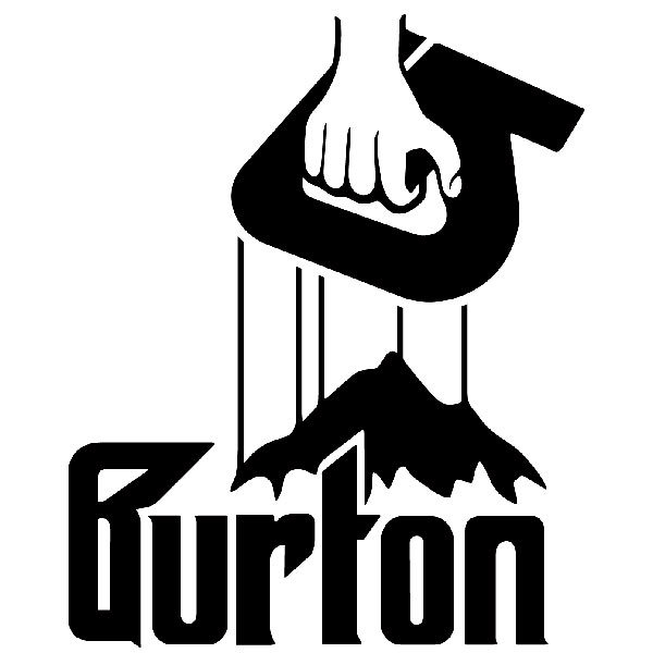 Car & Motorbike Stickers: Burton Godfather