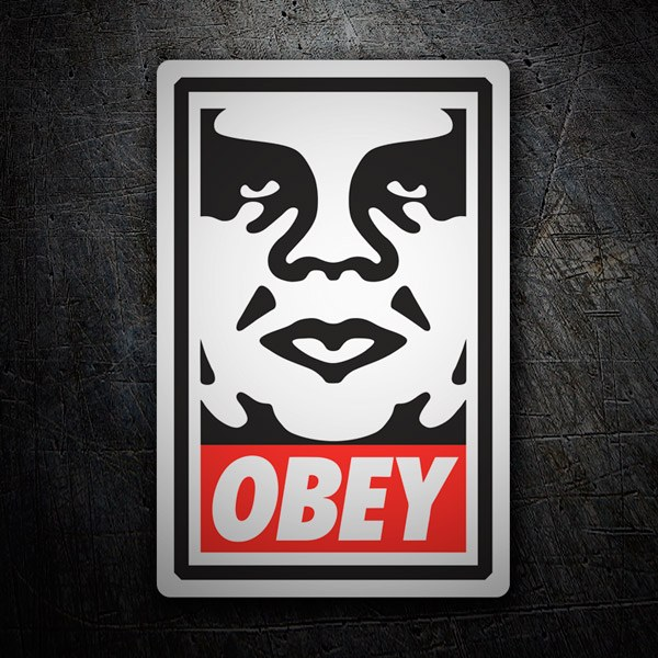 Car & Motorbike Stickers: Obey