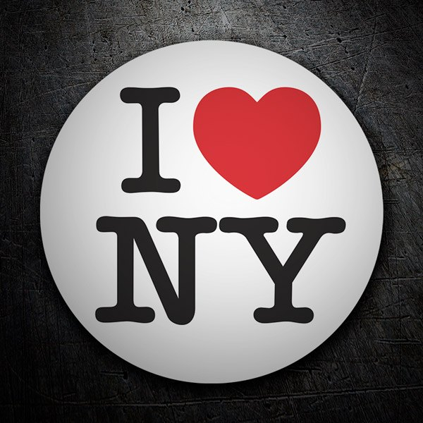 Car and Motorbike Stickers: I love NY (New York)