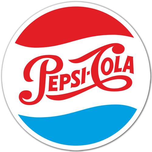 Car & Motorbike Stickers: Pepsi Cola Logo 1950