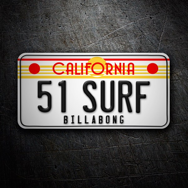 Car & Motorbike Stickers: Billabong California License Plate