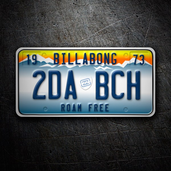Car & Motorbike Stickers: Billabong License Plate