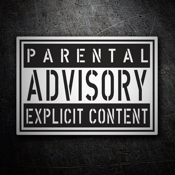 Car and Motorbike Stickers: Parental Advisory Explicit Content