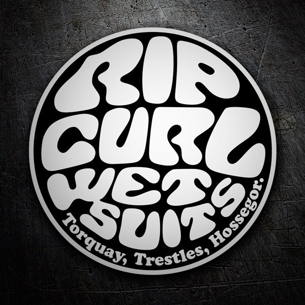 Car & Motorbike Stickers: Rip Curl Wet Suits Black and White