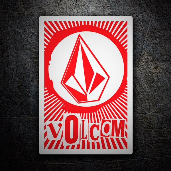 Car & Motorbike Stickers: Volcom retro