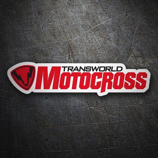 Car & Motorbike Stickers: Transworld Motocross Logo 1