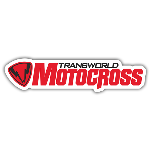 Car & Motorbike Stickers: Transworld Motocross Logo 0