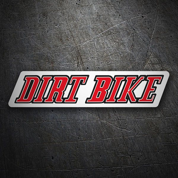 Car & Motorbike Stickers: Dirt Bike
