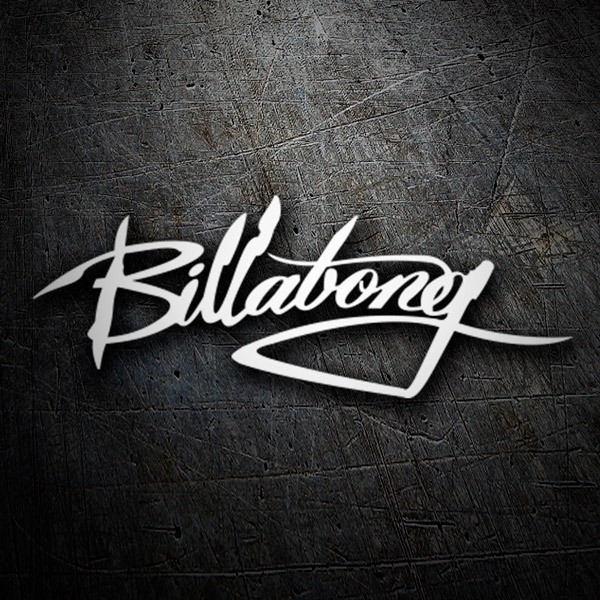 Car & Motorbike Stickers: Billabong stylized logo
