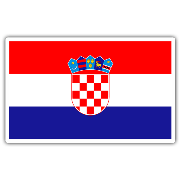 Car & Motorbike Stickers: Croatia Flag