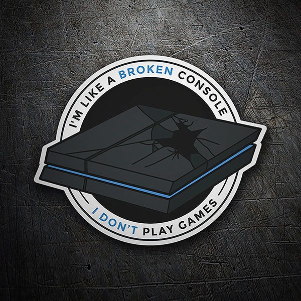 Car & Motorbike Stickers: Broken Console